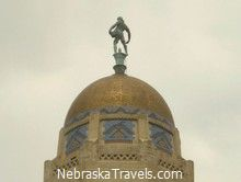 Nebraska State Capitol Building - Lincoln, NE Gold Dome and Sower Statue