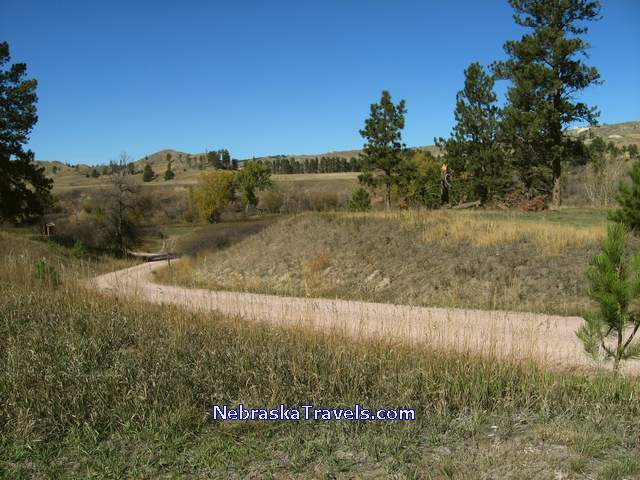 Nebraska Fort Robinson State Park winding road