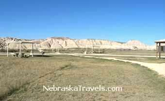 Toadstool Park Camping and Picnic area + trail view - Nebraska Badlands & Grasslands area