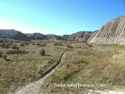 Toadstool Geologic Park Hiking Trail - Oglala National Grasslands area west of  Nebraska Sandhills