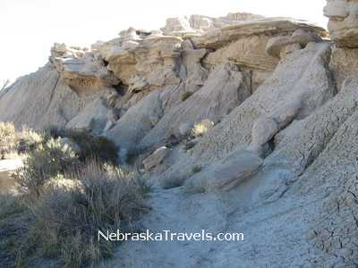 Toadstool Park Hiking Trail rock formations - Nebraska Badlands west of Nebraska Sandhills