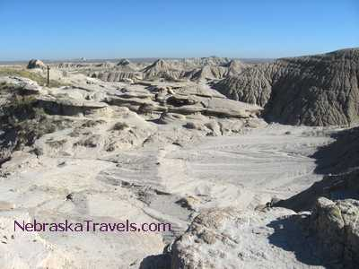 Toadstool Geologic Park Hiking Trail - on top of formations - Nebraska Badlands area