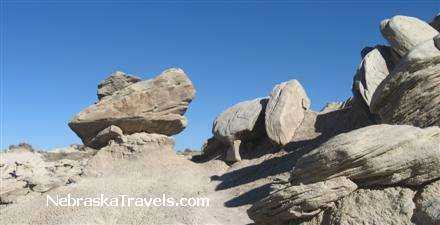Toadstool Park Trail Interesting Toadstool Rock Formations - Badlands west of Nebraska Sandhills