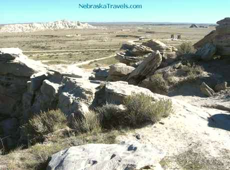 Looking back at end of Toadstool Geologic Park Hiking Trail - Western Nebraska Grasslands & Badlands area