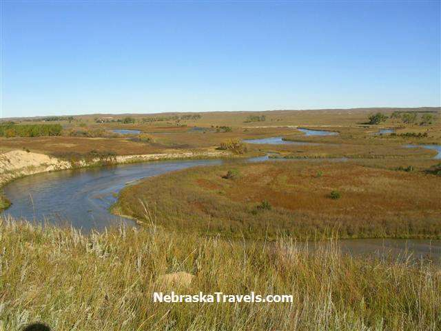 North Loup River and Grasslands in Western Nebraska Sandhills