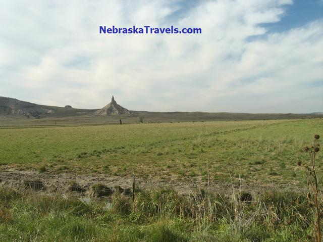 Chimney Rock from about a mile away - In Western Nebraska Panhandle east of Scottsbluff