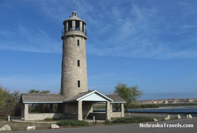 Lake Minatare Lighthouse near Scottsbluff in Western Nebraska